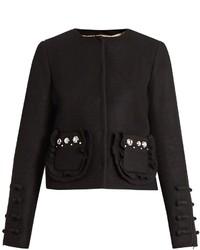 No.21 No 21 Embellished Pocket Wool Blend Jacket