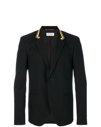 Saint Laurent Embroidered Collar Blazer