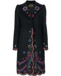 Roberto Cavalli Embroidered Coat