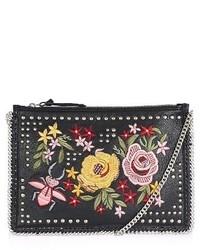 Topshop Oto Embroidered Crossbody Black