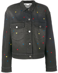 Stella McCartney Denim Heart Embroidered Jacket