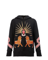 85acade0723 Gucci Tiger Embroidered Hooded Sweatshirt