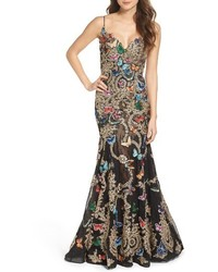 Mac Duggal Butterfly Lace Applique Gown