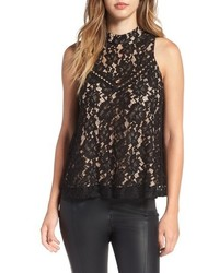 WAYF Portrait Embroidered Lace Tank