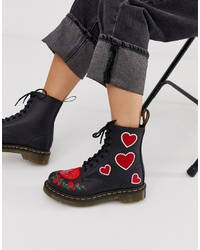 Dr. Martens 1460 Pascal Leather Boots In Black