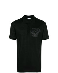 Versace Collection Medusa Embroidered Polo Shirt