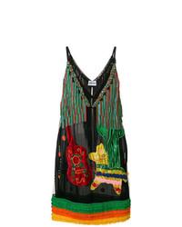 Au Jour Le Jour Fringed Embellished Dress