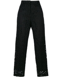 Moschino Boutique English Embroidery Tapered Trousers
