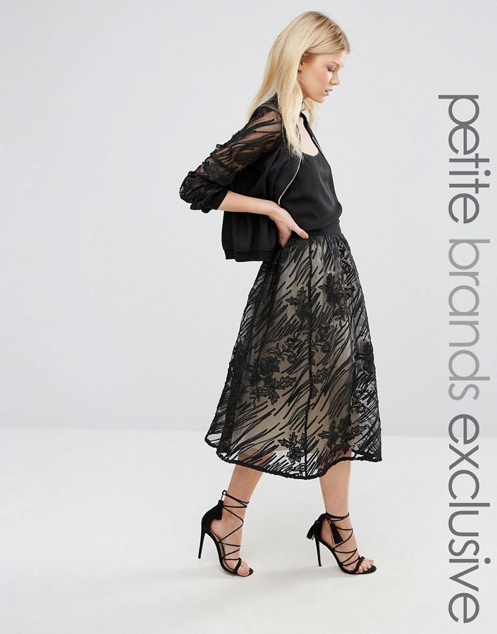 3127a22869 Little Mistress Petite Full Lace Midi Skirt, £32 | Asos | Lookastic UK