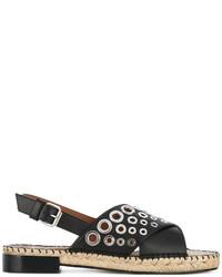 Givenchy Grommet Embellished Espadrille Sandals