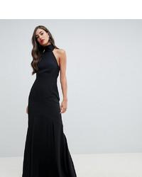 Asos Tall Asos Design Tall High Neck Maxi Dress In Crepe