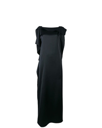 P.A.R.O.S.H. Draped Ruffle Evening Gown