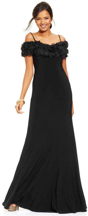 JS Collections Off The Shoulder Soutache Gown | Where to buy & how ...