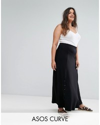 Asos Curve Curve Eyelet Lace Up Maxi Skirt