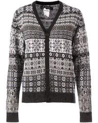 Fair isle knit cardigan medium 124392