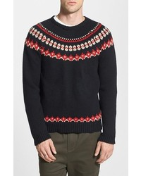 Native youth fair isle crewneck sweater medium 123135
