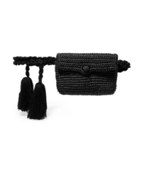 Nannacay Tasseled Toquilla Straw Belt Bag