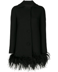 Moschino Boutique Feather Trim Coat
