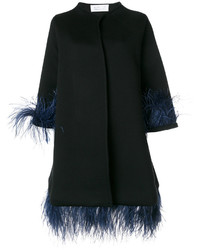 Capucine feather embellished coat medium 5375518