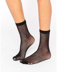 Asos Glitter Fishnet Ankle Socks