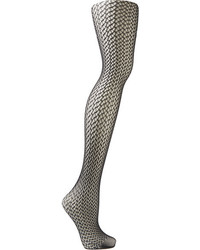 Wolford Nele Geometric Net Tights Black