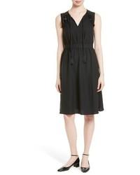 Kate Spade New York Ruffle Crepe Fit Flare Dress