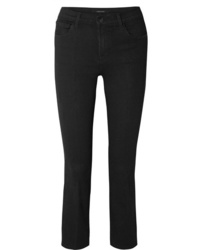 J Brand Selena Cropped Mid Rise Flared Jeans