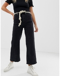 Free People Wales Cropped Wide Leg Jeans