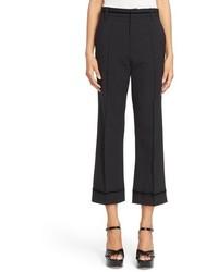 Marc Jacobs Wool Blend Flared Crop Pants