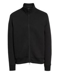 Black Fleece Zip Sweater