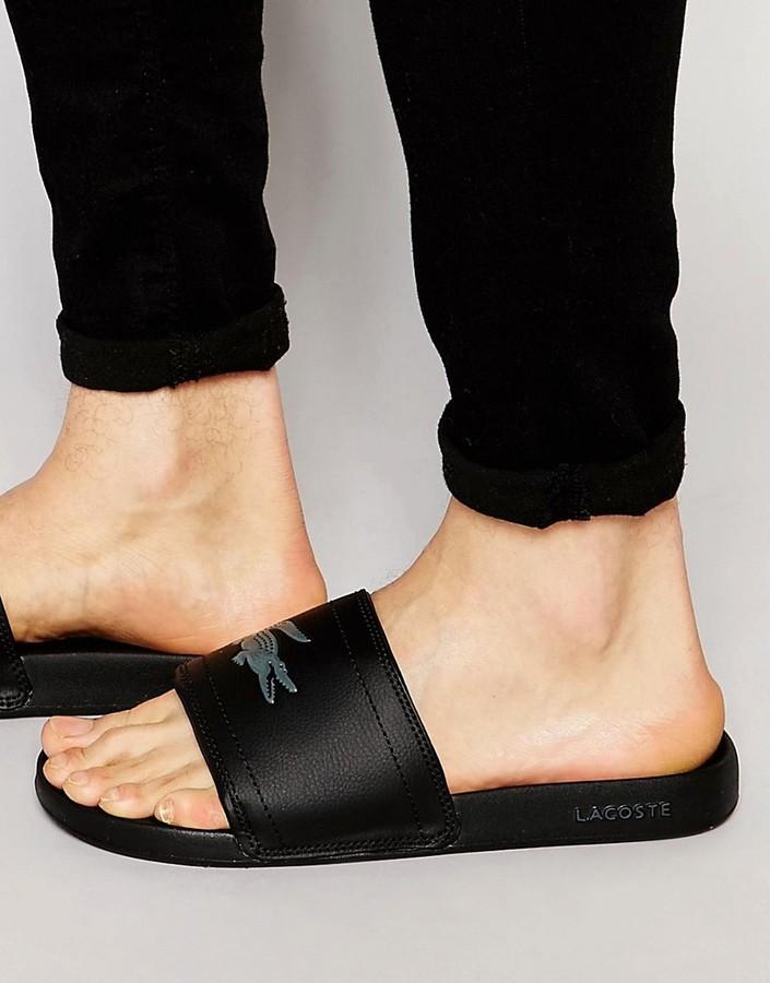 6cd40ae0f ... Lacoste Fraisier Croc Slider Flip Flops ...
