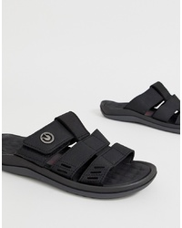 Cartago Santorini Thong Sandals In Black