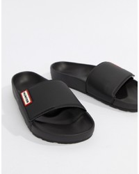 Hunter Sliders In Black