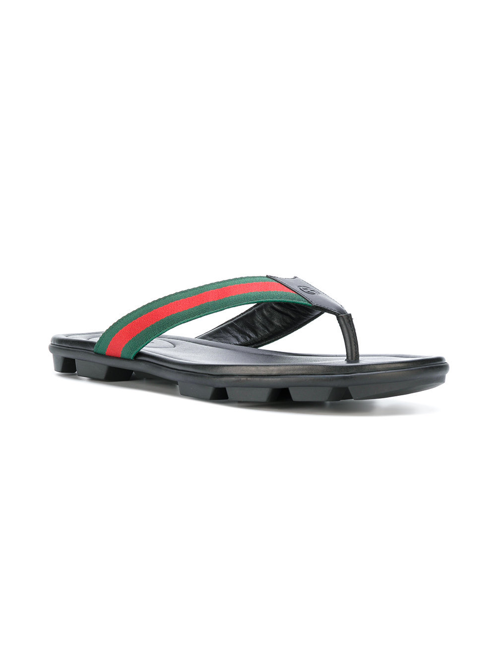 5a0d0143a71c34 Gucci Web Trim Flip Flops