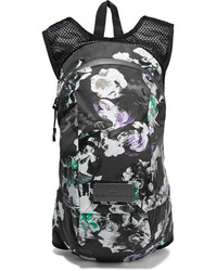 65cbe6fdb21e ... adidas by Stella McCartney Floral Print Shell And Mesh Backpack Black