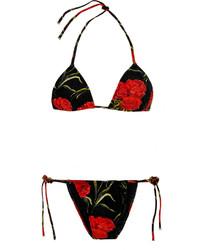 Dolce & Gabbana Floral Print Triangle Bikini