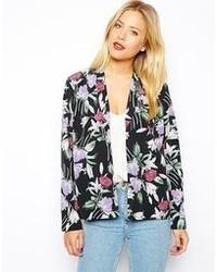 Asos Soft Blazer In Floral Print