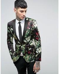 Super skinny blazer with floral design medium 849349