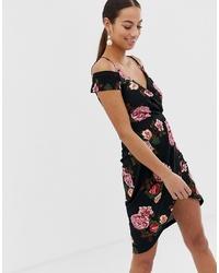 AX Paris Bardot Floral Wrap Dress