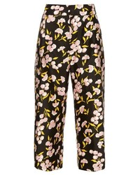 Marni Sistowbell Floral Print Cotton Blend Trousers