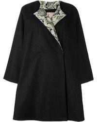 Antonio Marras Back Floral Appliqu Coat