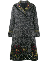 J.W.Anderson Floral And Squiggle Embroidered Coat