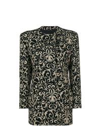 Versace Vintage Floral Patterned Coat