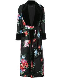 Dolce & Gabbana Floral Print Robe Coat