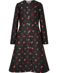 Lela Rose Wool Blend Jacquard Coat