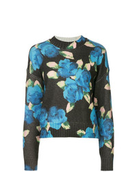 MSGM Floral Long Sleeve Sweater