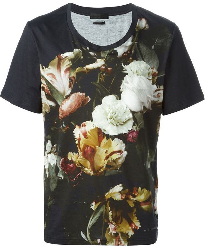 Alexander McQueen floral print sweatshirt Clearance New Styles Cheap Clearance Discount From China LPSeASuxj