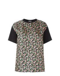 Moncler Floral Print Front Panel T Shirt