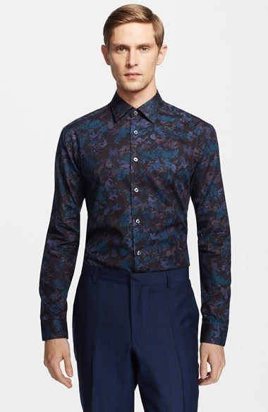 b82ff38c3935 ... Paul Smith London Slim Fit Floral Print Dress Shirt ...