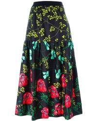 I'M Isola Marras Floral Print Midi Skirt